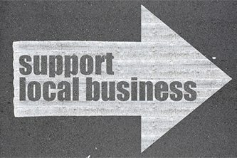 support small businesses arrow