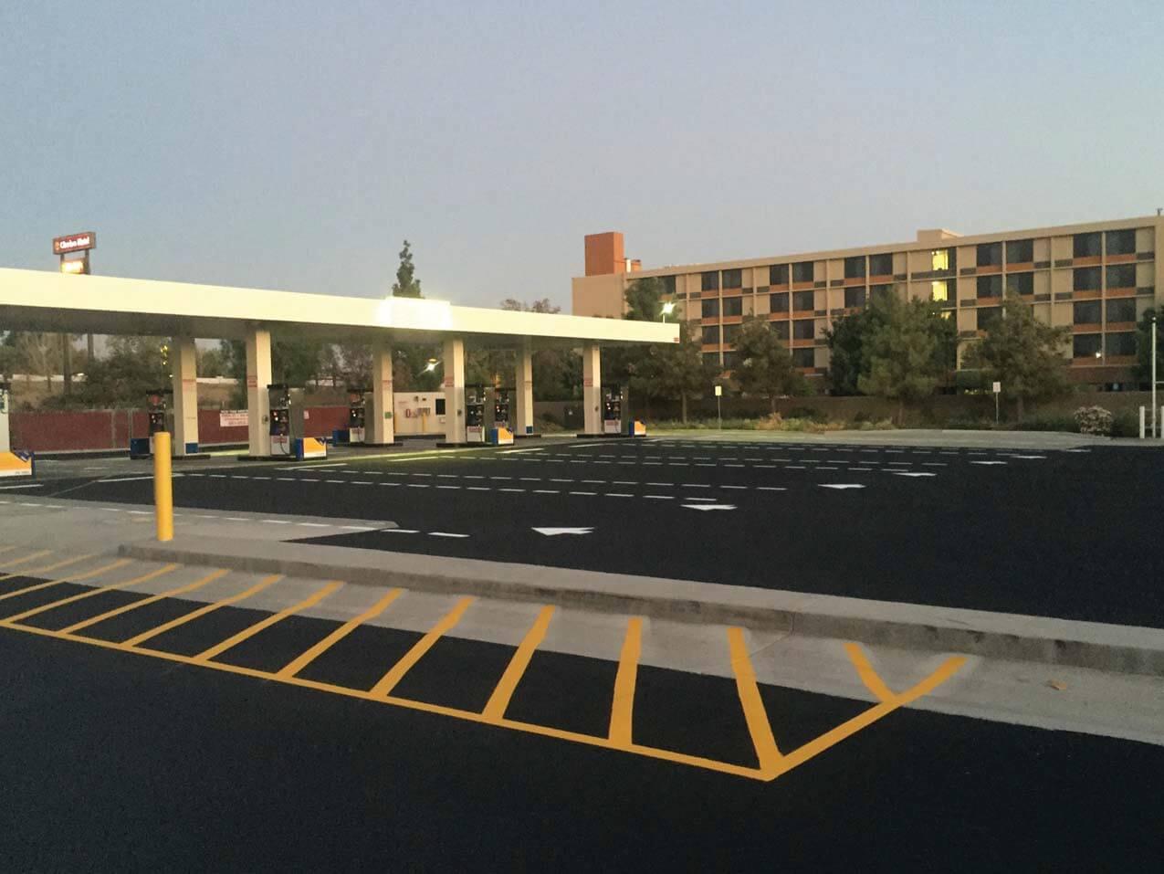 restriped costco parking lot