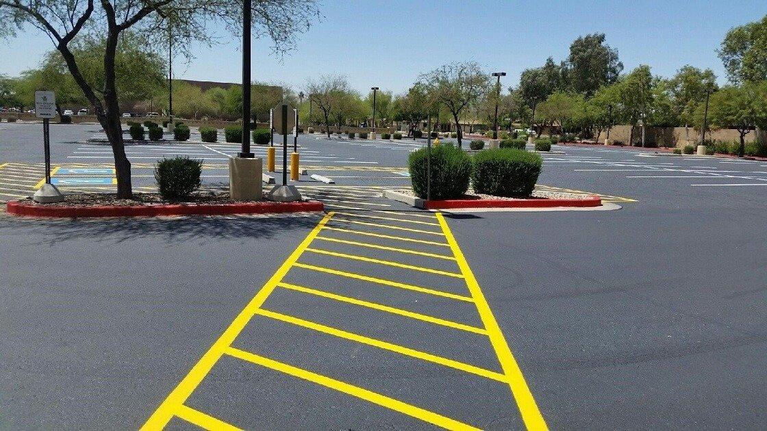 kohls parking lot after sealer