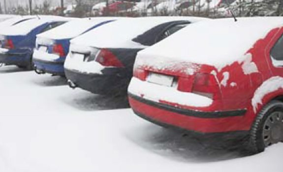 parking lot in winter