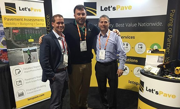 let's pave staff at tradeshow