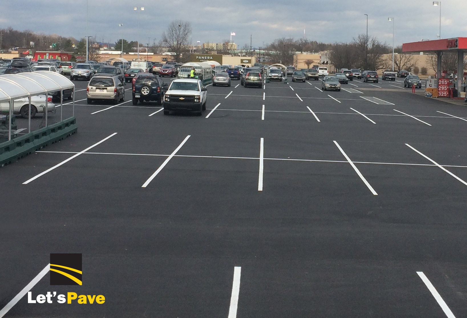 grocery store parking lot