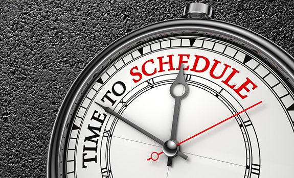 time to schedule stop watch