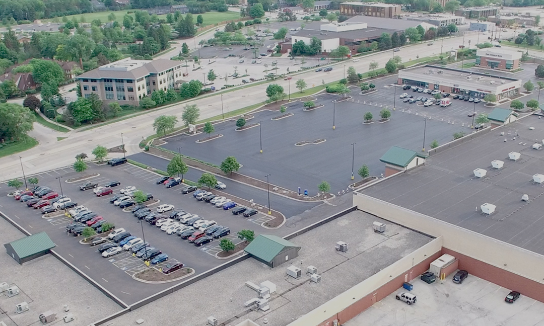 parking lot after structural repairs
