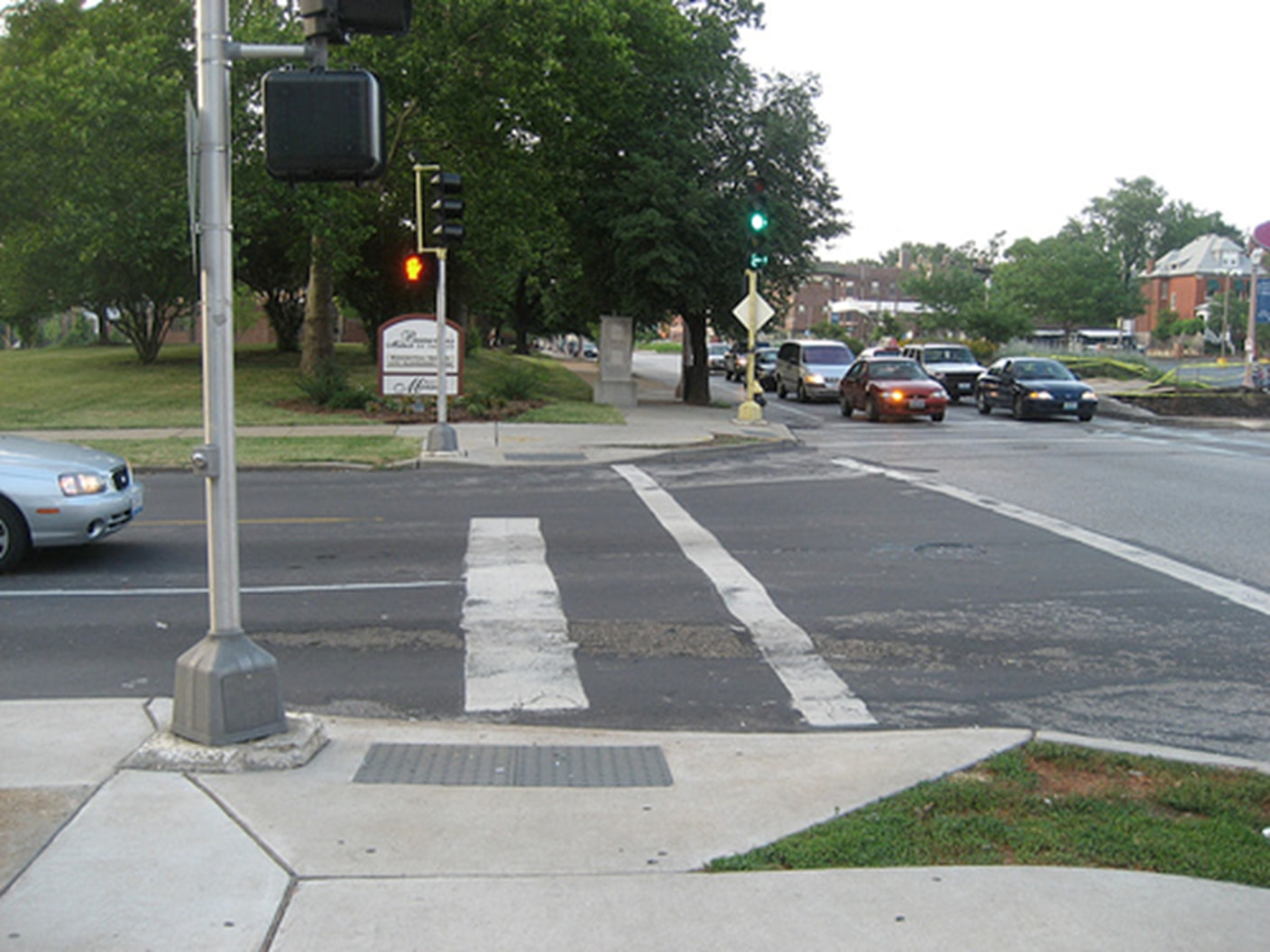 crosswalk not aligned with visually impaired walking devices