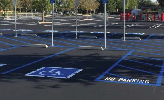 ADA Parking spots with fresh restriping