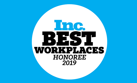 inc. magazine best workplaces honoree badge