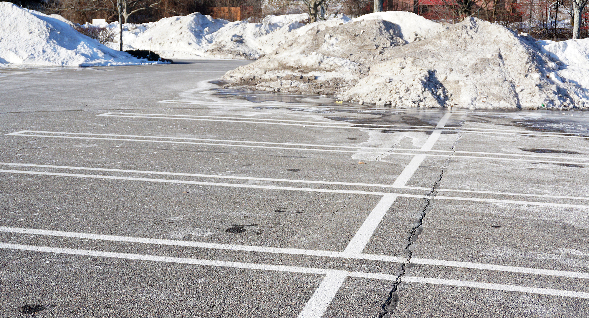 parking lot damage after winter