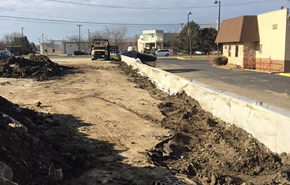 retaining wall excavation project