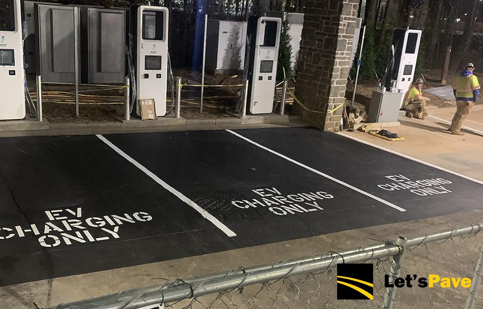 ev charging station pavement markings