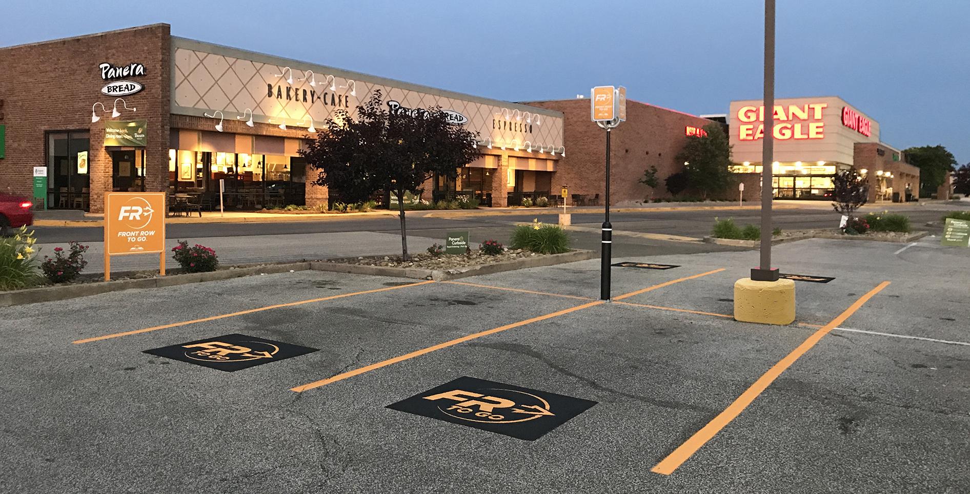 yorktown center front row to go pavement marking